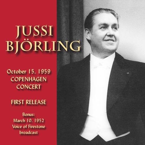 Jussi Björling, Copenhagen Concert 1959, JSP RECORDS JSP682