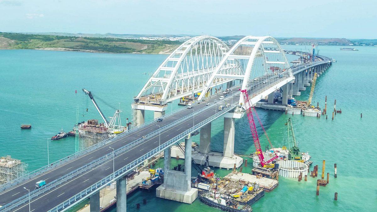 Krim, bro från öster   –   Крымский мост