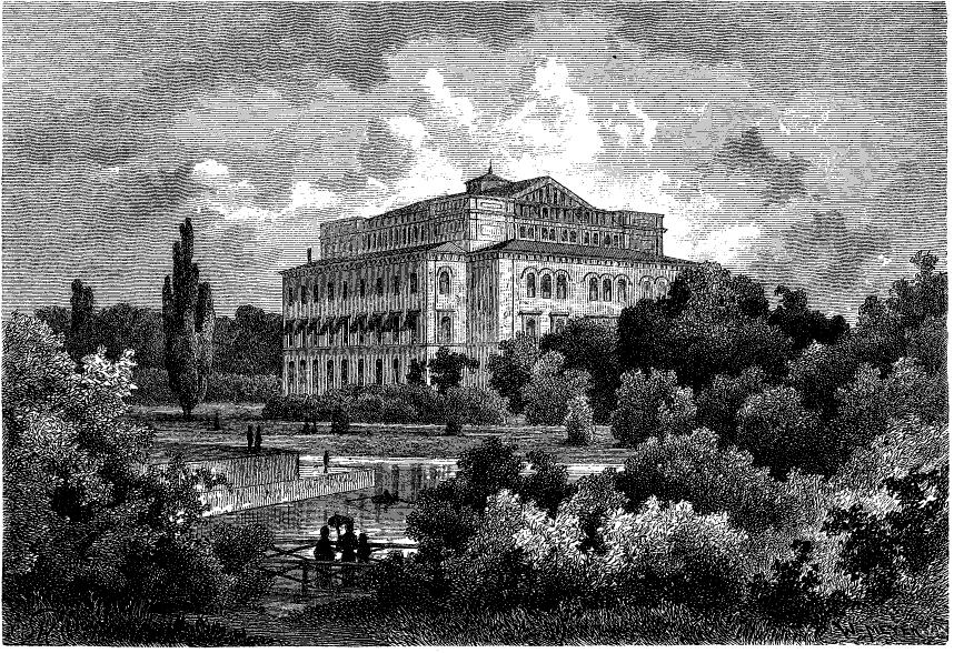 Nya Teatern (Stora Teatern) i Göteborg. Bild från Svenska Familj-Journalen 1878.